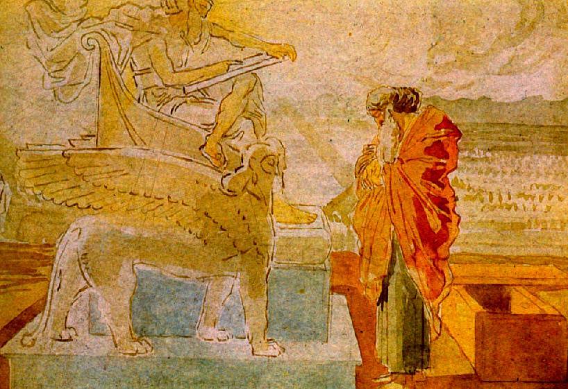 Моисей перед Богом. Александр Иванов, 1850