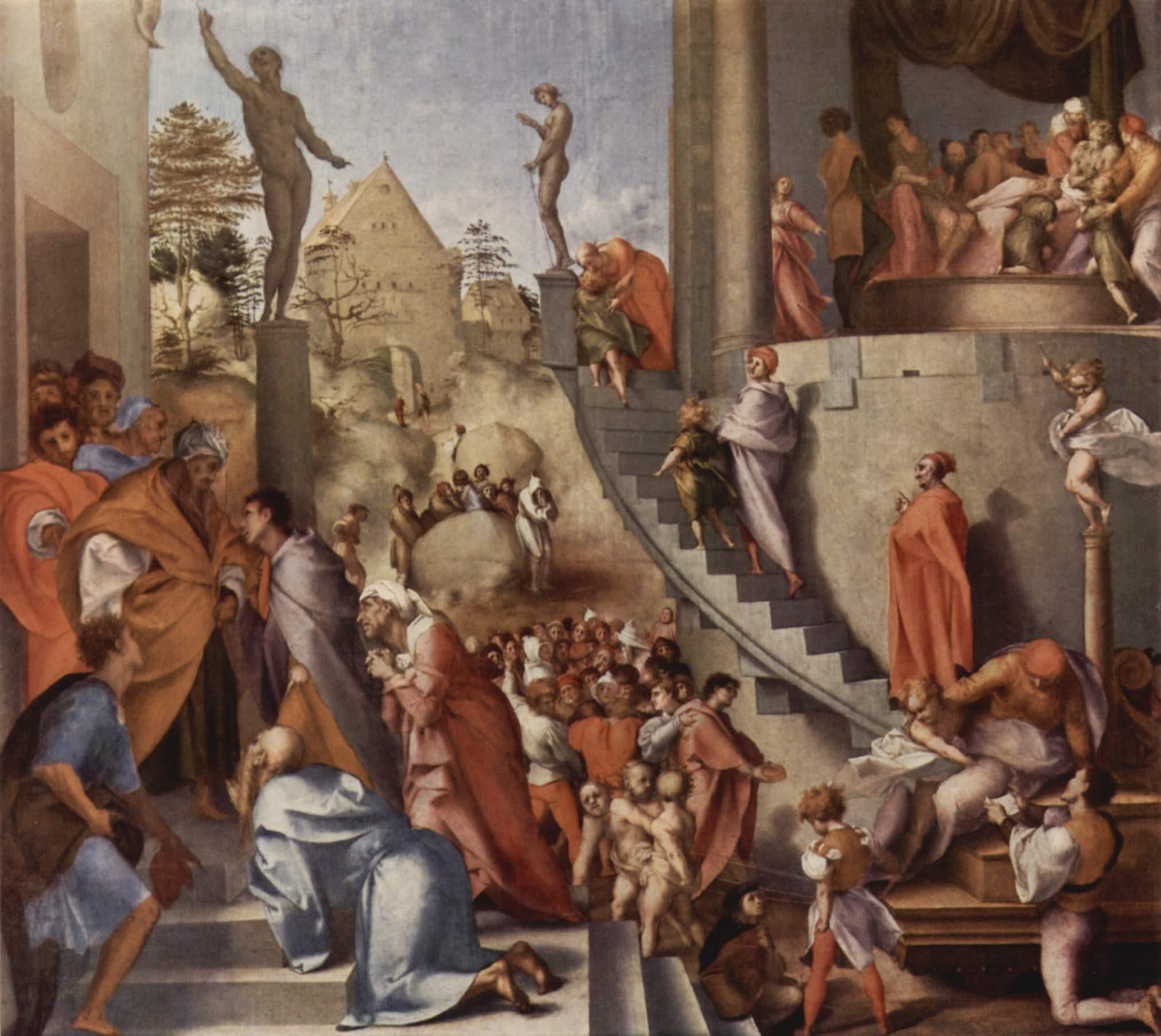 Йосеф в Египте. Понтормо, 1518