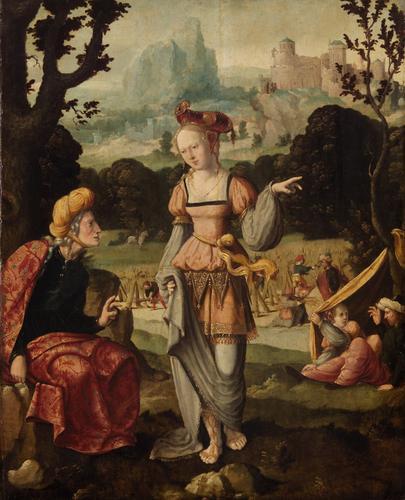 Рут и Наоми на полях Боаза. Ян ван Скорел, 1530-1540