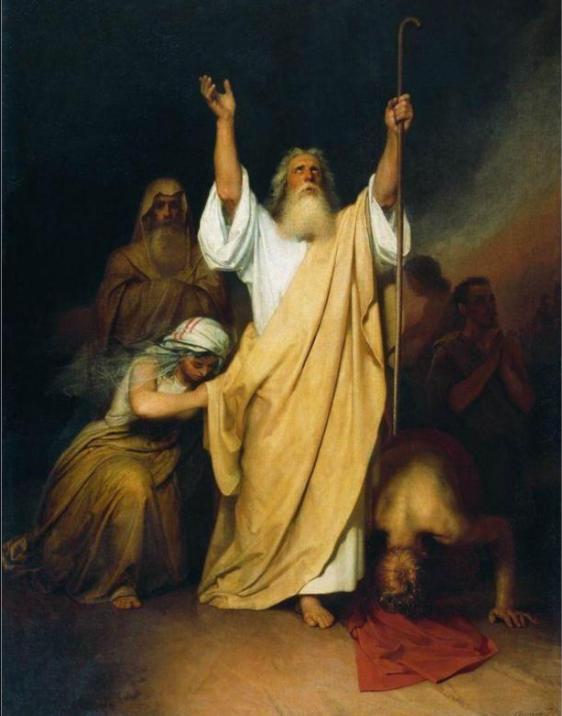 Молитва Моисея после перехода израильтян через Чермное море. Иван Крамской, 1861