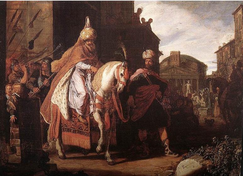 Триумф Мордехая. Питер Ластман, 1624