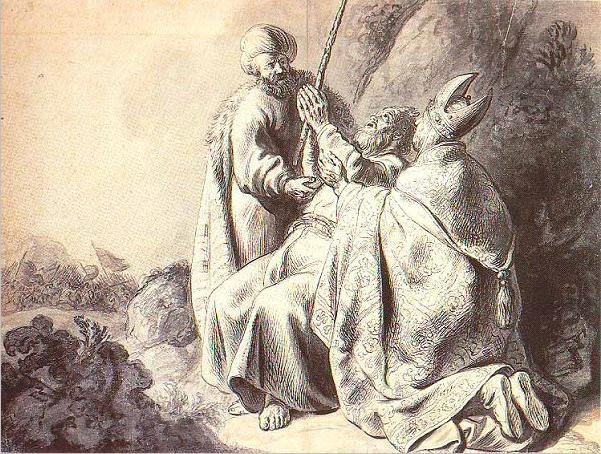 Молитва Моше во время сражения Йеошуа с амалекитянами. Ян Ливенс, 1627-30