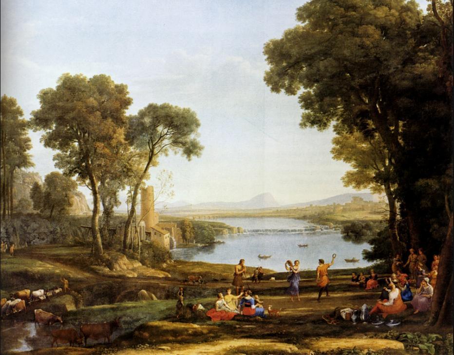 Пейзаж, изображающий свадьбу Йицхака и Ривки. Клод Лоррен, 1648