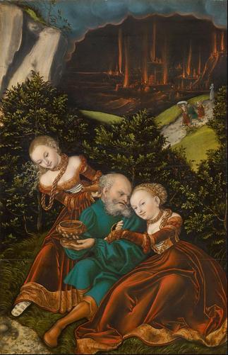 Лот и его дочери. Лукас Кранах Старший, 1528