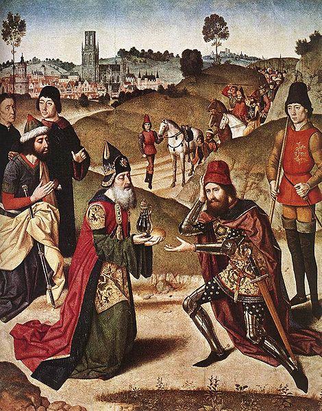 Встреча Авраама и Малки-Цедека. Дирк Баутс Старший, 1464-1467