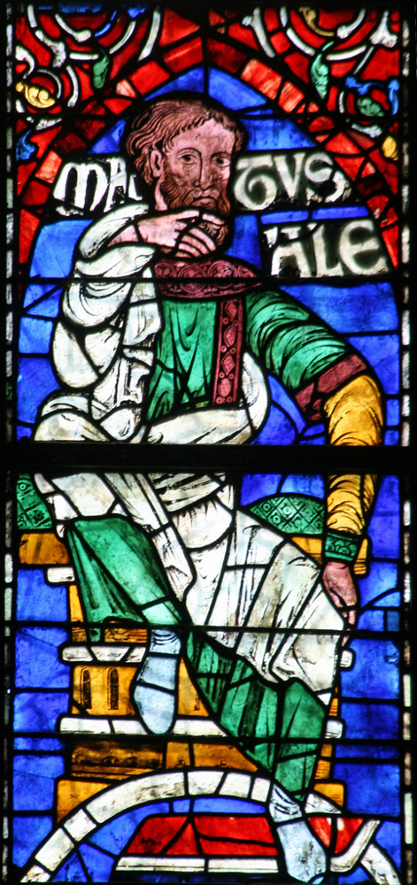 Метушелах. Витраж в Кентерберийском соборе, XII век