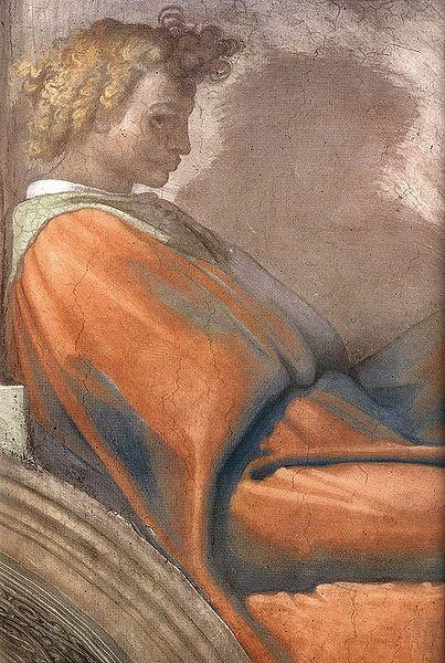 Нахшон, сын Амминадава. Микеланджело, 1511-1512