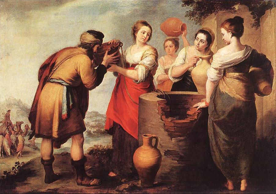 Ривка и Элиэзер. Бартоломе Эстебан Мурильо, 1650