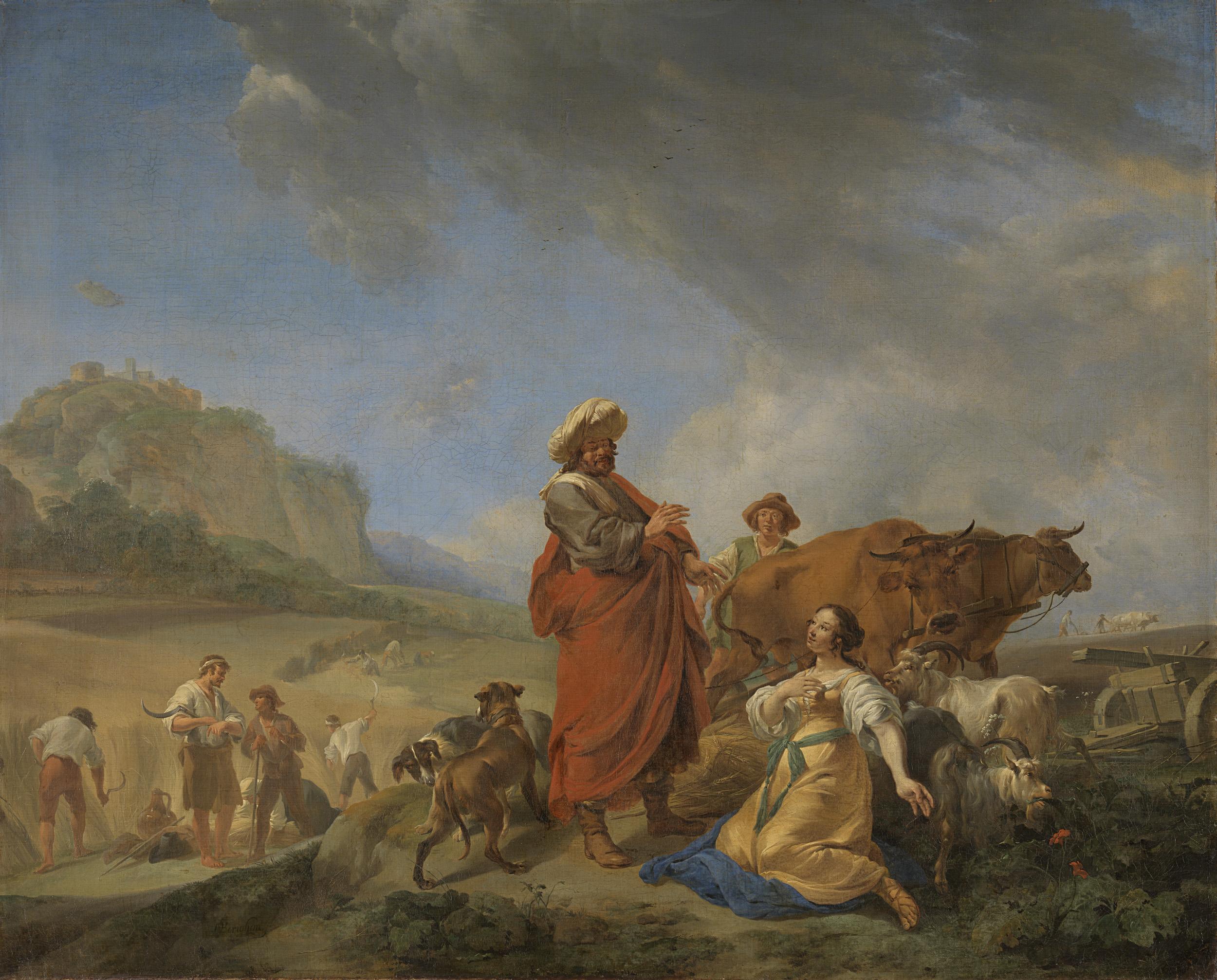 Рут и Боаз. Николас Питерс Берхем, 1640-1650