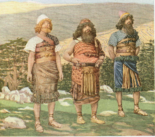 Шем, Хам и Йефет. Иллюстрация Джеймса Тиссо, 1904