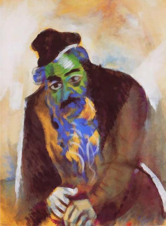 Старый еврей. Марк Шагал, 1912