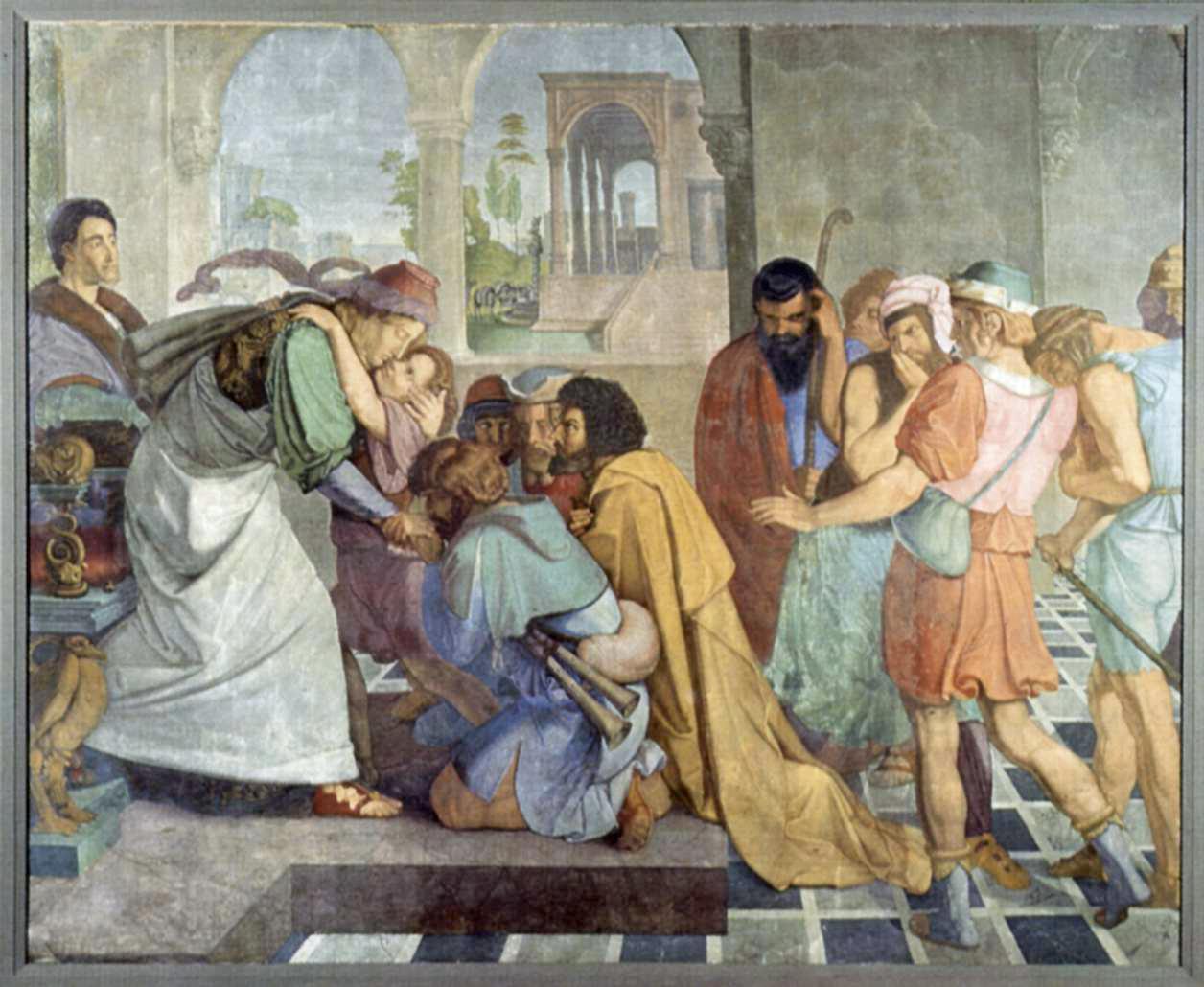 Йосеф открывается братьям. Петер фон Корнелиус, 1817