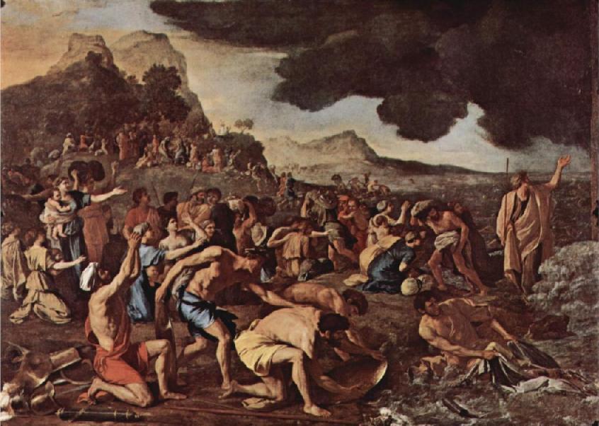 Переход через Красное море. Николя Пуссен, 1633-1637