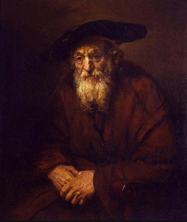 Портрет старого еврея. Рембрандт, 1654