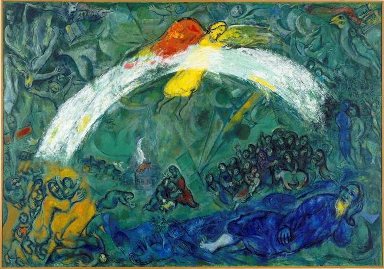 Ноах и радуга. Марк Шагал, 1966