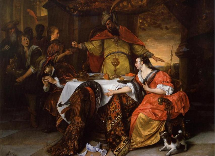 Гнев Ахашвероша. Ян Стен, 1671-73