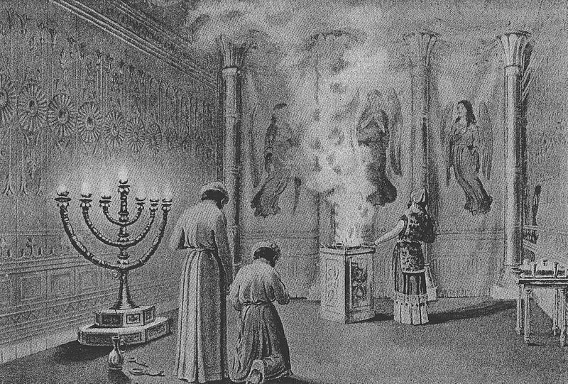 Шхина входит в Скинию. Иллюстрация к изданию Библии, 1908