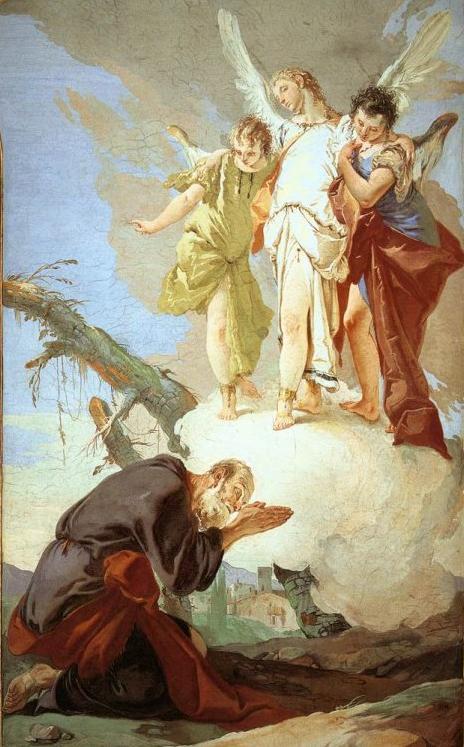 Явление ангелов Аврааму. Джованни Баттиста Тьеполо, 1726-1729