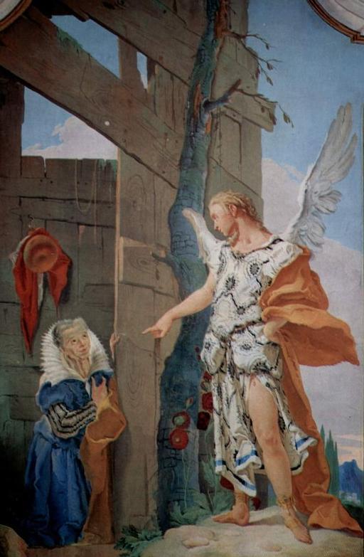 Явление ангела Саре. Фреска Джованни Баттисты Тьеполо, 1726-1728