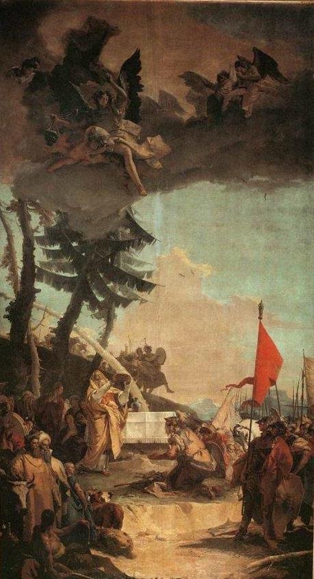 Жертвоприношение Малки-Цедека. Джованни Баттиста Тьеполо, 1740-42