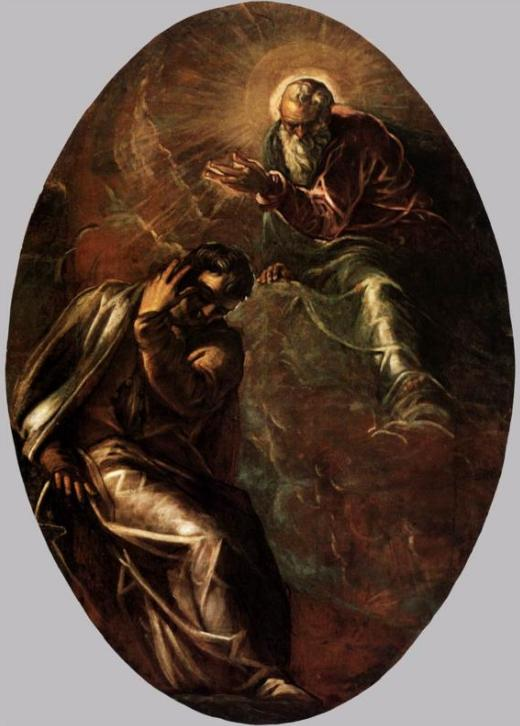 Бог обращается к Моше. Тинторетто, 1578