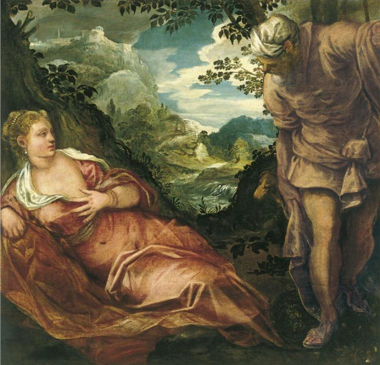 Тамар и Йеуда. Тинторетто, 1559