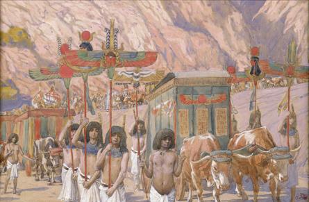 Тело Йаакова переносят в Кенаан. Джеймс Тиссо, 1902