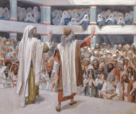 Моше и Аарон обращаются к народу Израиля. Джеймс Тиссо, 1896-1902
