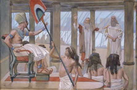 Моше обращается к фараону. Джеймс Тиссо, 1896-1902