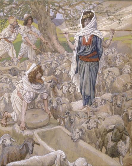 Йааков и Рахель у колодца. Джеймс Тиссо, 1902