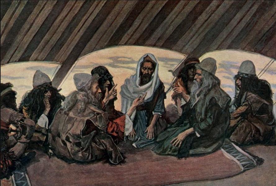Йитро и Моше. Джеймс Тиссо, 1896-1900