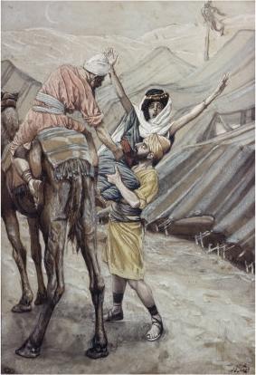 Соблазнение Дины, дочери Леи. Джеймс Тиссо, XIX в.