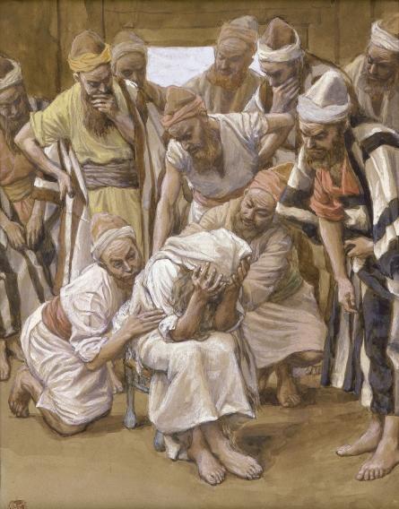Йааков оплакивает своего сына Йосефа. Джеймс Тиссо, 1902