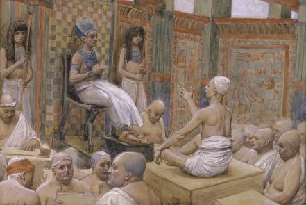 Йосеф объясняет сон фараона. Джеймс Тиссо, 1902