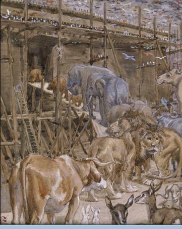 Животные входят в ковчег. Джеймс Тиссо, 1896-1902