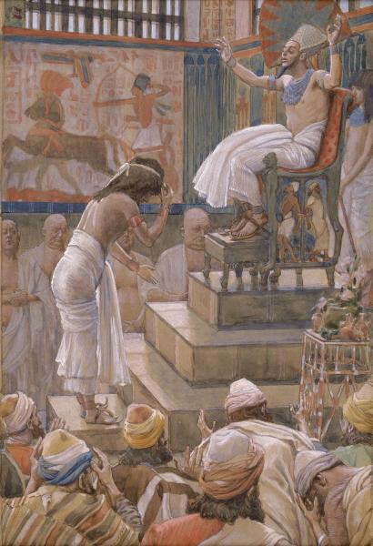 Фараон приветствует Йосефа и его братьев. Джеймс Тиссо, 1902