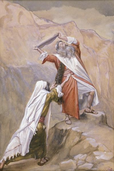 Моше разбивает скрижали Договора. Джеймс Тиссо, 1896-1902