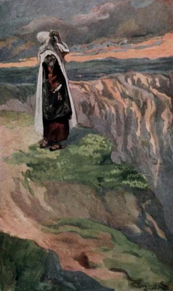 Моше смотрит на Землю обетованную. Джеймс Тиссо, 1896-1902