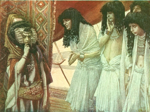 Египтяне любуются красотой Сарай. Джеймс Тиссо, 1900