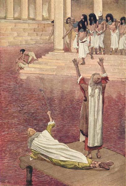 Воды Нила превращаются в кровь. Джеймс Тиссо, 1896-1902