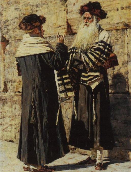 Два еврея. Василий Верещагин, 1884