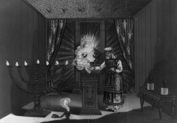 Святая святых Скинии Завета. Литография 1879 г.