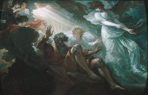 Господь показывает Моше Землю обетованную. Бенджамин Уэст, 1801