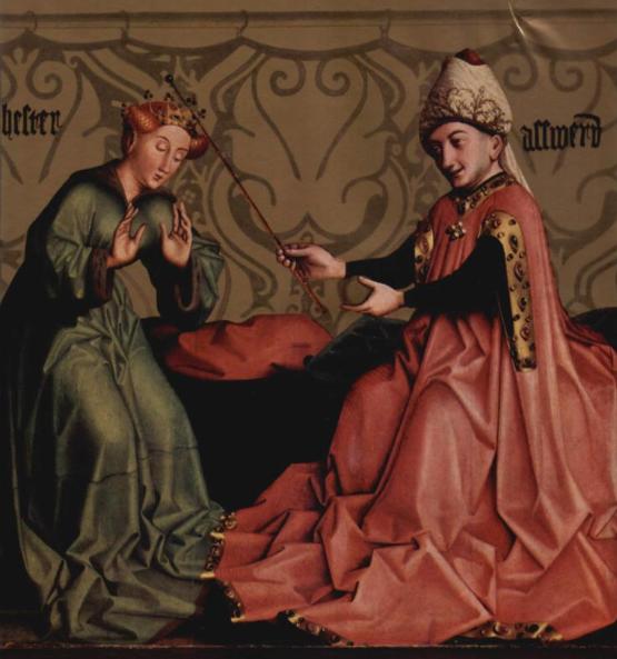 Эстер перед царем Ахашверошем. Конрад Виц, 1435
