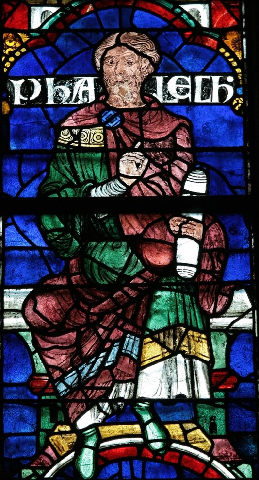 Пелег. Витраж в Кентерберийском соборе, XII век