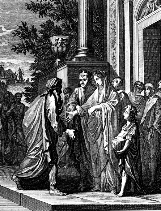 Авимелех возвращает Сару Аврааму. Каспар Лейкен, XVIII в.