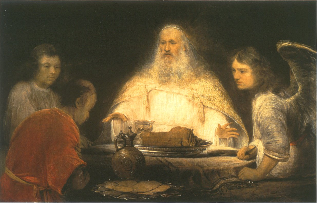 Господь и ангелы навещают Авраама. Арент де Гелдер, 1680-1685