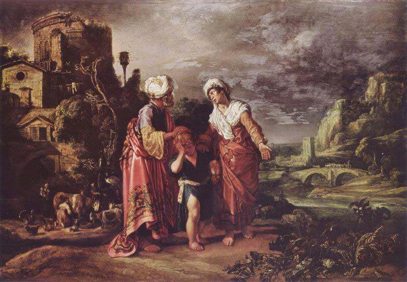 Авраам изгоняет Агар и Ишмаэля. Питер Ластман, 1612