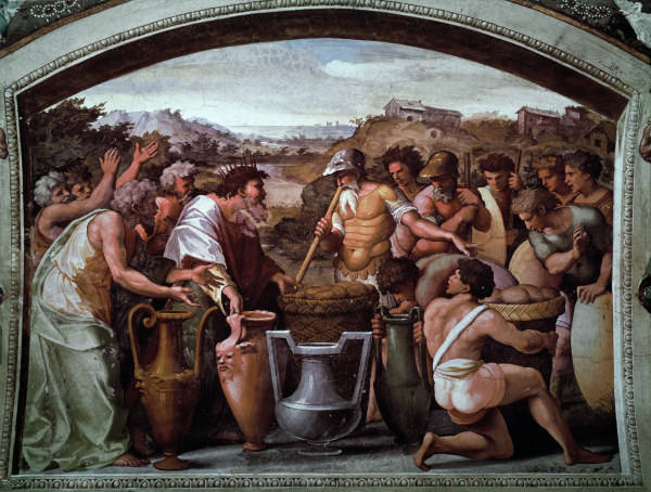 Аврам и Малки-Цедек. Рафаэль, 1519